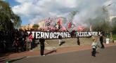 Zbiórka i przemarsz na Ludowy przed meczem z Górnikiem
