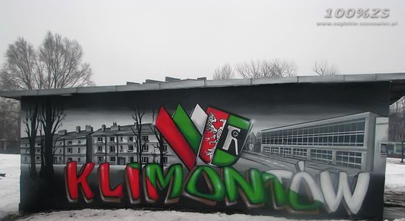 Kibicowskie graffiti Klimontów